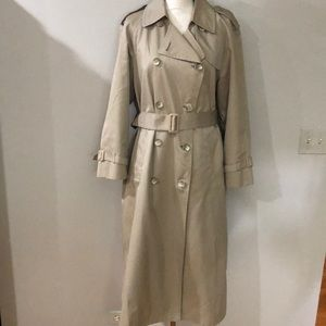 London Fog Trench with Zip out Plaid Lining